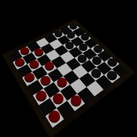 checkers set 3d fbx