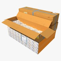 3d model of cardboard boxes
