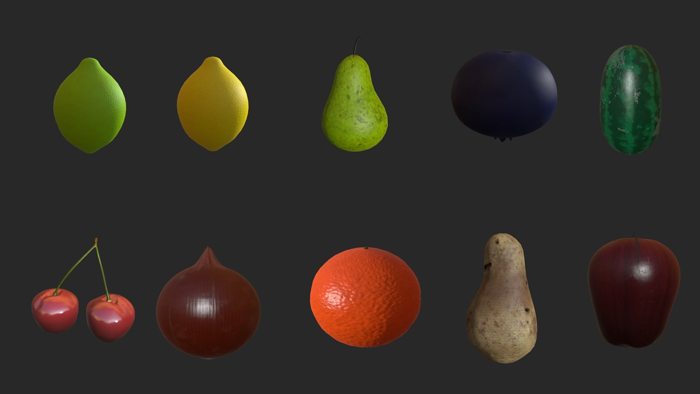 fruit produce pack 3d obj