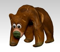 funny bear 3d obj