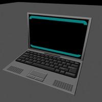 laptop 3d fbx
