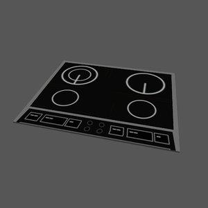 induction cooker 3d model