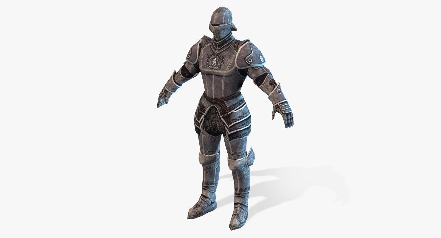 medieval horseman 3d max