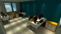 office scene interior 3d model
