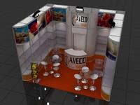 fair stand exhibition moduler 3d max