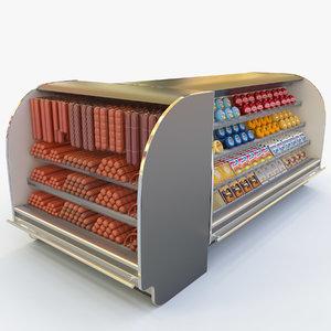 3d model food showcase