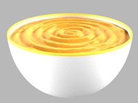 bowl soup 3d max
