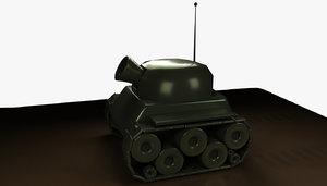 tiny toy tank 3d model