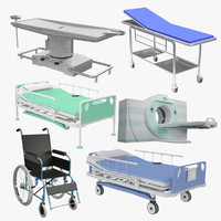 3d anatomy bed hospital model