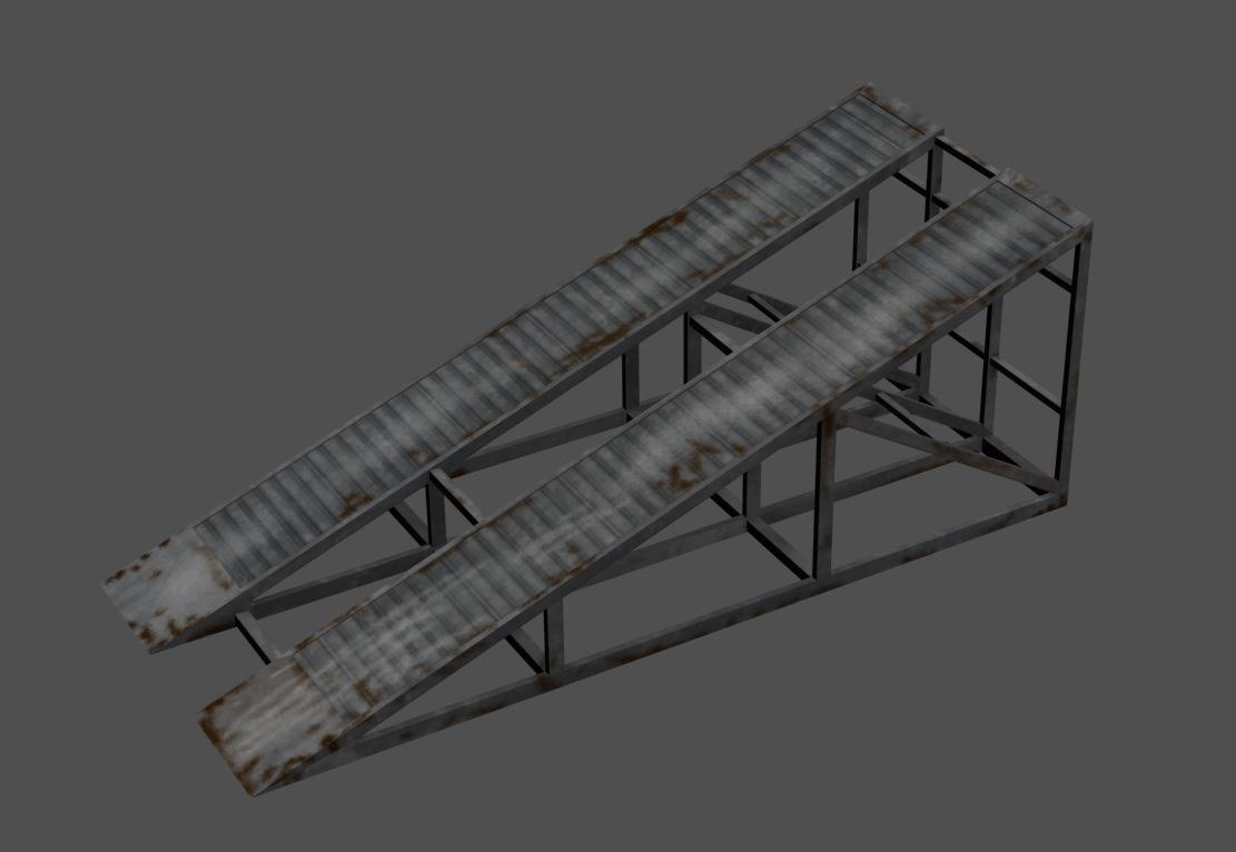 3d model ramp racing