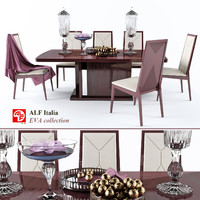 table chairs eva colection 3d max