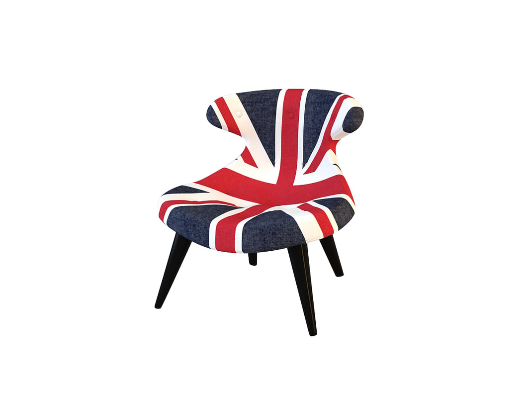 3d model gund chair union jack