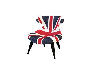 3d model gund chair union jack