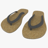 3d cork sandals model