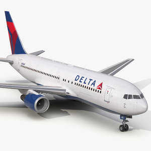 boeing 767-200 delta air lines 3d max