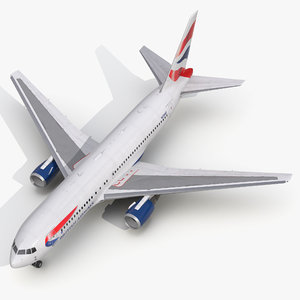 3d model boeing 767-200 british airways