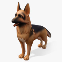 cartoon animals shepard 3d max