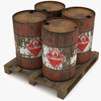 oil barell 3d model