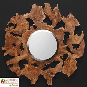 decorative wall mirror woodland max