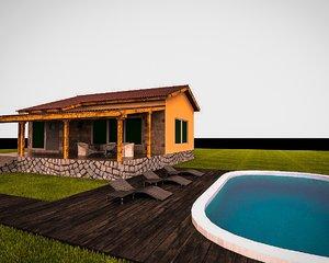 modern house pool max