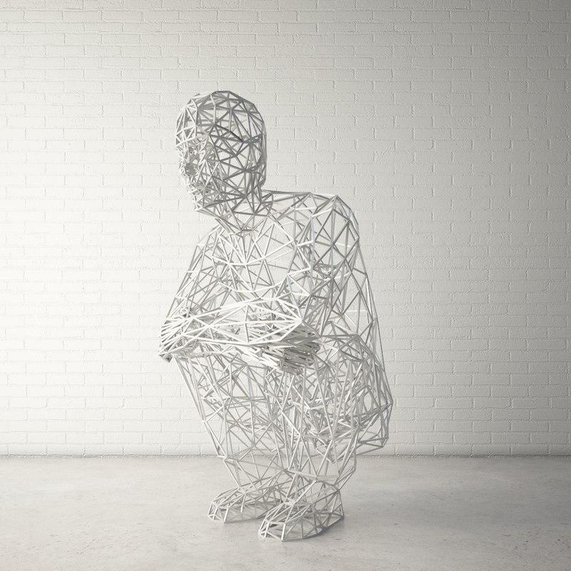 custom public sculpture human max