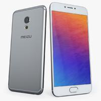 3d model of meizu pro 6 silver