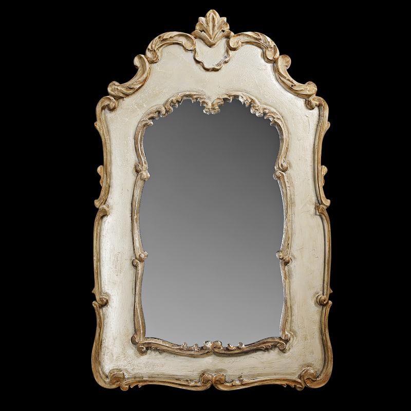 carved mirror 3d model