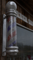 3d barber pole shop model