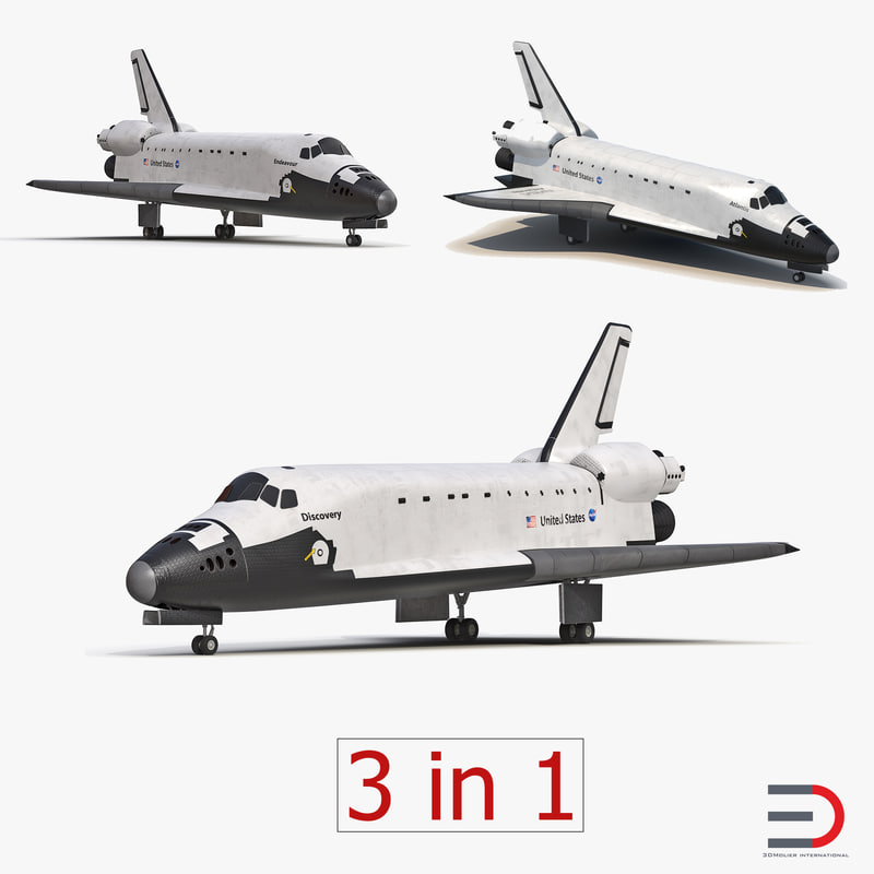 space shuttles modeled 3ds