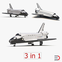 Space Shuttles 3D Models Collection