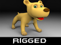 Cartoon rigged dog