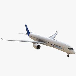 airbus a350 900 3d max