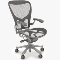 design office desk chair 3d model