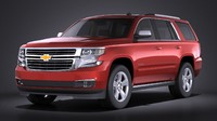 3d model 2015 chevrolet tahoe