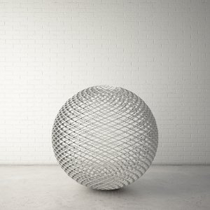 custom public sculpture ball 3d model