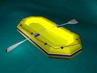 3d rubber dinghy