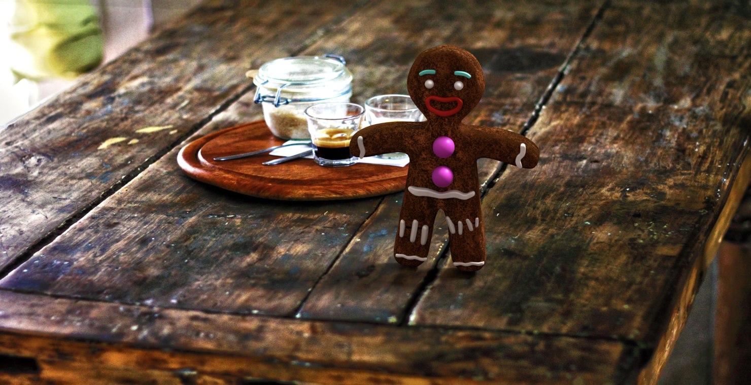 3d model gingerbread zenzy cookies