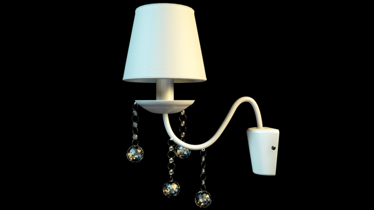 crystall wall sconce 3d model