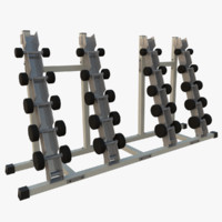 obj dumbbell rack