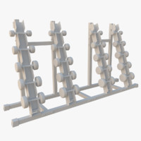 dumbbell rack obj