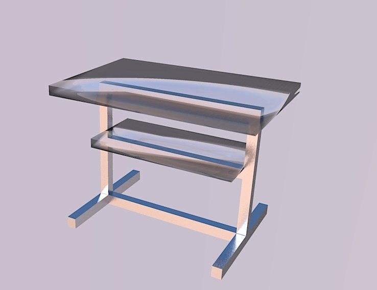 3d model display table