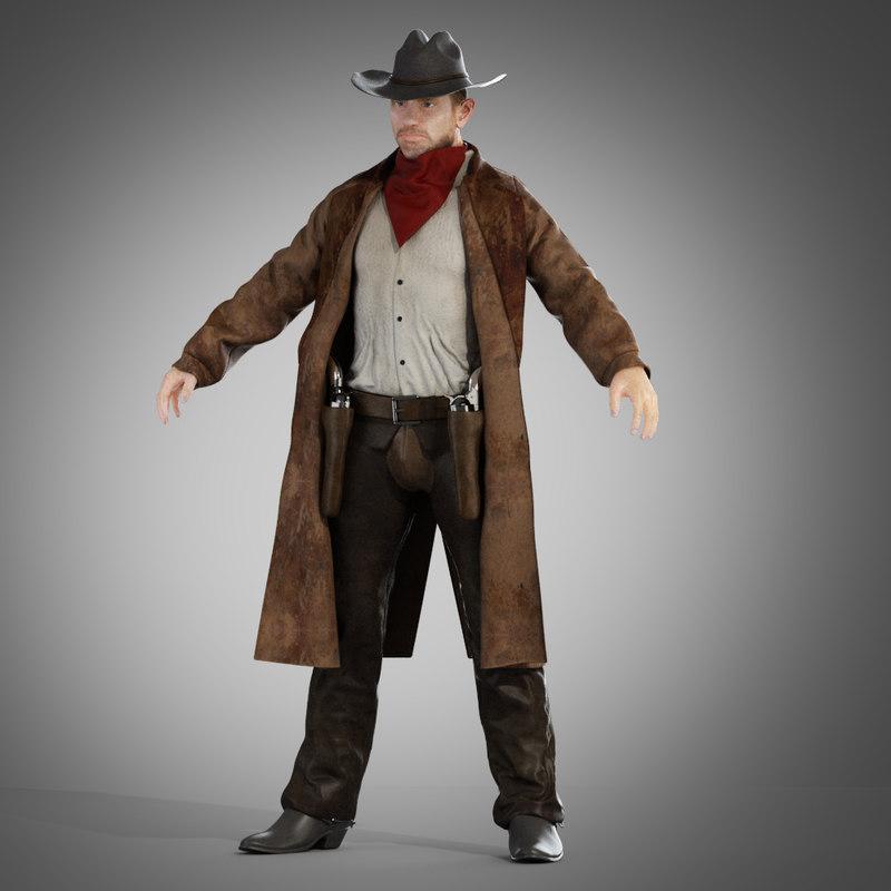 Cowboy in a coat