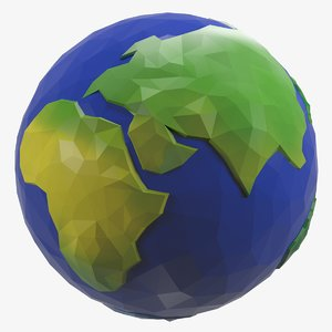 3d earth style cartoon