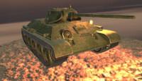 tank t34 3d obj