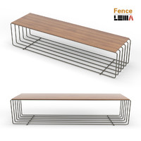 fence bench sophisticated 3d model