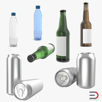 Bottles 3D Models Collection 3