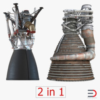 rocket engines 3d c4d