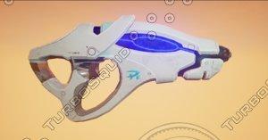 3d laser gun model