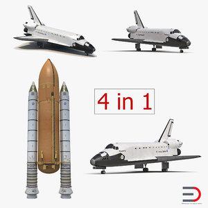 3d model space shuttles 2 rocket