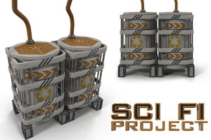 3d model sci fi reservoir
